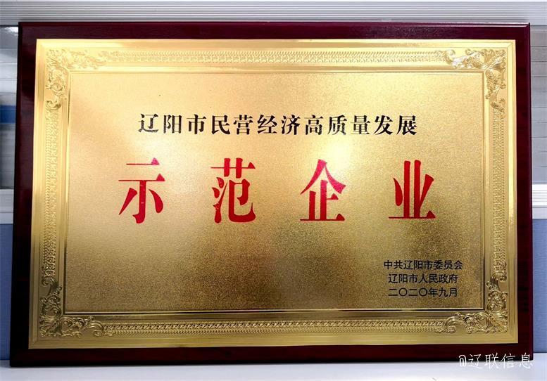 """辽联信息荣获""""辽阳市民营经济高质量发展示范企业""""称号3.jpg"""
