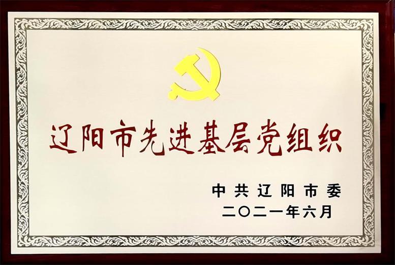 """辽联集团荣获""""辽阳市先进基层党组织""""称号"""